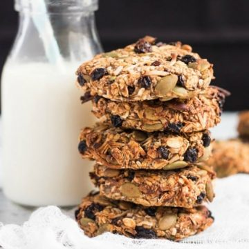 Grab & Go Banana Breakfast Cookies. Never skip breakfast again with a batch of these in your freezer.