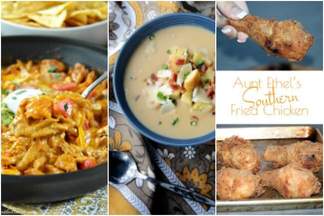 This week's healthy meal plan has 2 speedy pasta dishes, celery root & white bean soup, southern fried chicken and some easy 20-minute quesadillas.