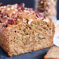 Healthy Zucchini Bread. Low in sugar & high on flavour, this bread is great when you have a zucchini glut. In fact, it freezes so well you should make two.