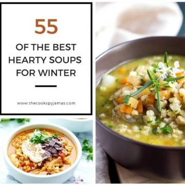 The thumbnail image for the hearty soups blog graphic.