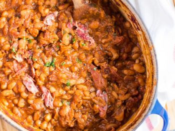 Easy Homemade Baked Beans with Smoked Ham Hock