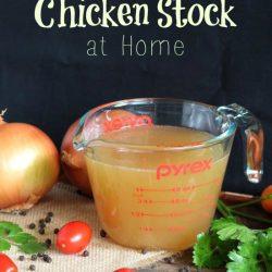 How to Make Chicken Stock at Home | thecookspyjamas.com