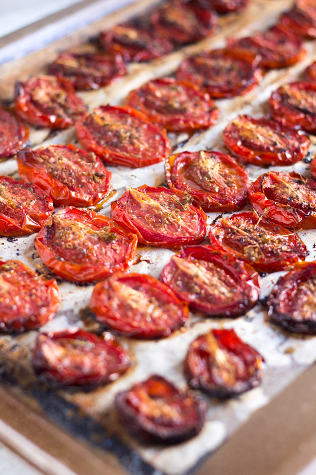 How to Freeze Slow Roasted Tomatoes.  Great to have in the freezer to liven up those winter dishes. | thecookspyjamas.com