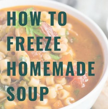 A cropped cover photo for the How To Freeze Soup guide.