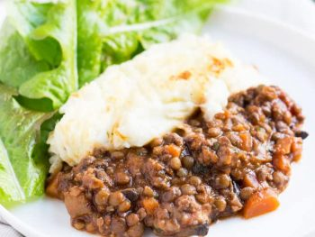 Healthy Shepherd's Pie Recipe with lamb & lentils