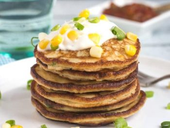 Easy 30 Minute Leftover Mashed Potato and Corn Pancakes
