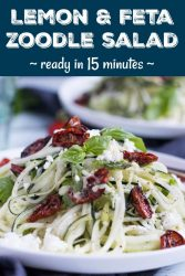 Pinterest Image for Lemon & Feta Zoodle Salad