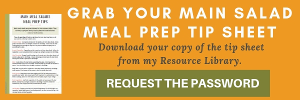 Signup form for salad meal prep tip sheet