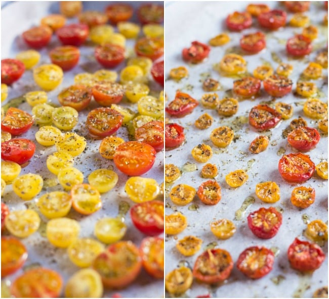 Oven Dried Cherry Tomatoes. Toss these little flavour bombs through pasta and salads, or eat straight from the tray.