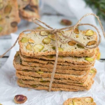 Pistachio, Lemon & Rosemary Biscotti. Keep a loaf of this biscotti dough in the freezer & never be caught without a gift again.