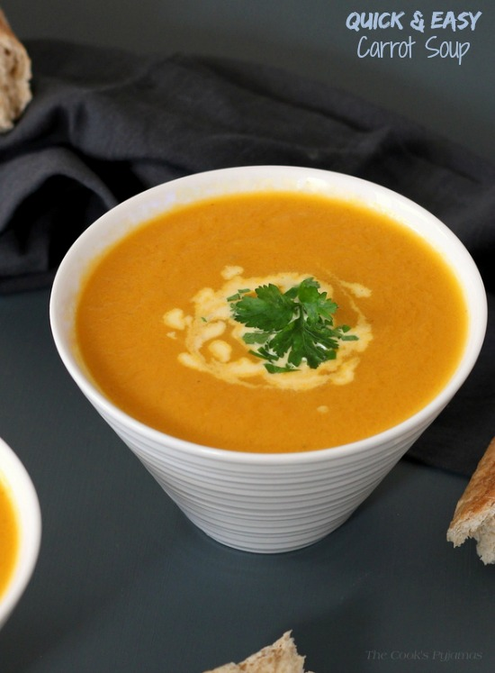 Quick & Easy Carrot Soup | thecookspyjamas.com
