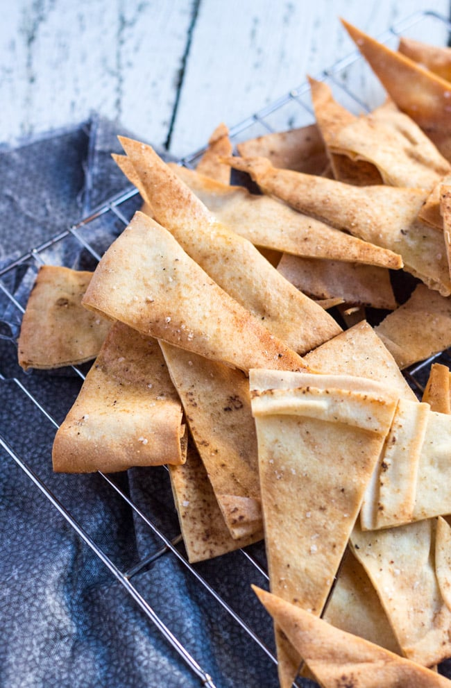 Quick Flatbread Crackers.  An easy homemade replacement for processed crackers.