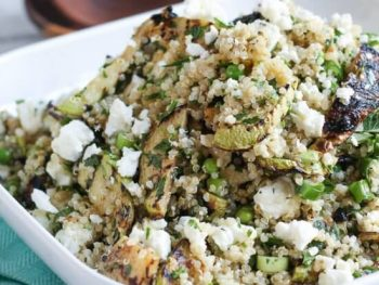 A Surprisingly Simple Quinoa, Feta & Grilled Zucchini Salad