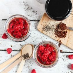 Raspberry Chocolate Chia Pudding Pots are simple to put together, and are great to grab as a healthy on-the-go snack for you or the kids.