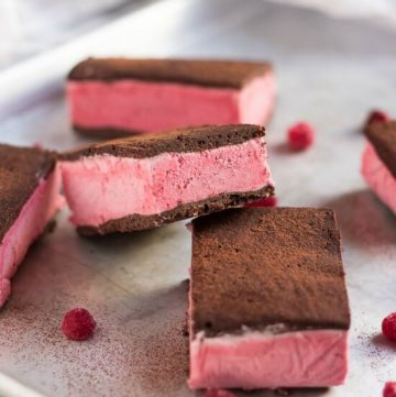Raspberry & Chocolate Ice Cream Sandwiches. Have you ever thought of making your own ice cream sandwiches? They are actually very easy, and by making your own you get to dictate the flavour.