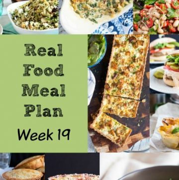 Real Food Meal Plan Week 19. Includes a broccoli pasta dish, spicy gnocchi, simple roast chicken, vegan carrot soup and an easy Shepherd's Pie.