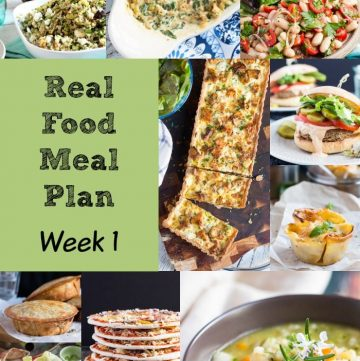 Real Food Meal Plan Week 1 2016 includes beef ravioli, smoked salmon & chicken adobo.