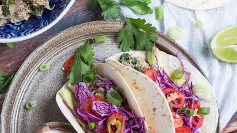 Cook 1, Freeze 1: Slow Cooker Lime Cilantro Chicken Tacos