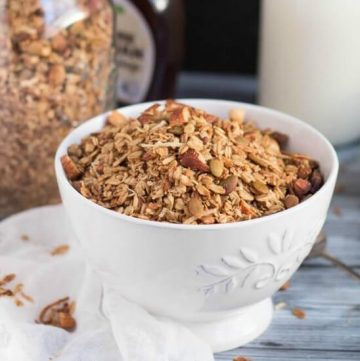 Slow Cooker Pecan & Maple Granola. A slow cooker is the best way to make a batch of granola in the middle of a hot summer without heating up the house. It is so easy, you will wonder why you didn't try it sooner.