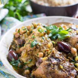 Slow Cooker Moroccan Chicken Tagine. Quick to put together and freezes brilliantly.