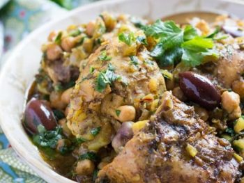 A Super Easy Slow Cooker Moroccan Chicken Tagine