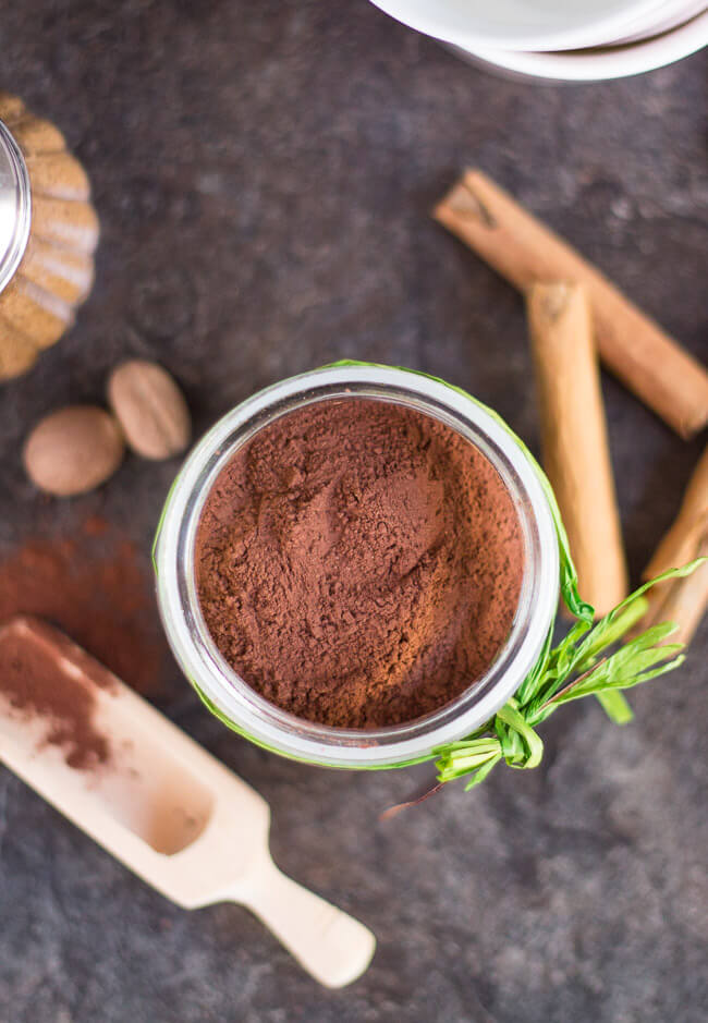 Sugar Free Spiced Hot Chocolate Mix. Make your own sugar free hot chocolate mix at home and you can choose to sweeten it however you like. Homemade hot chocolate mix in a jar also makes a great, easy gift.