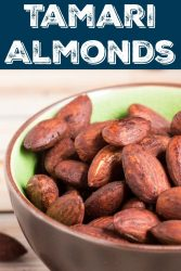 Pinnable image of tamari almonds
