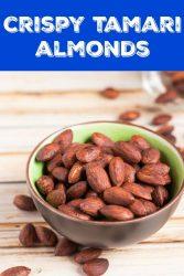 Pinnable image 2 of crispy tamari almonds
