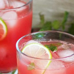 Watermelon & Mint Aguas Frescas. A refreshing drink for a hot summer's day.