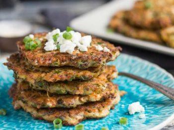 Astoundingly Easy Zucchini, Feta & Leftover Quinoa Fritters